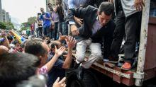 Guaidó parte en caravana a la frontera con Colombia por ayuda humanitaria