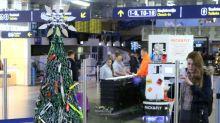Cutting edge 'tree' displays Vilnius airport contraband