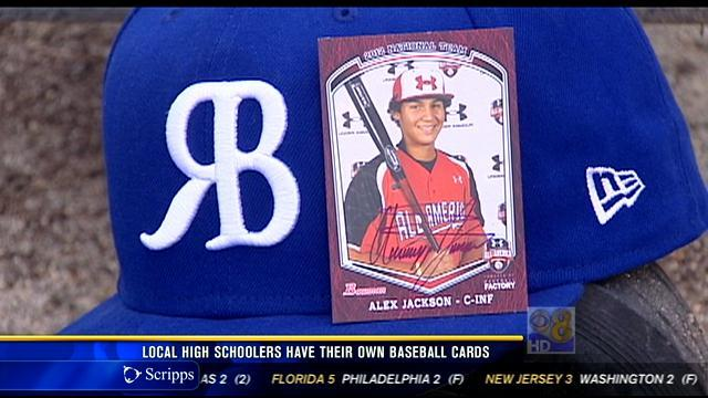 Local high schoolers have their own baseball cards