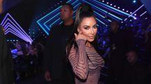 Kim Kardashian wore a naked optical illusion dress to the 2018 People's Choice Awards