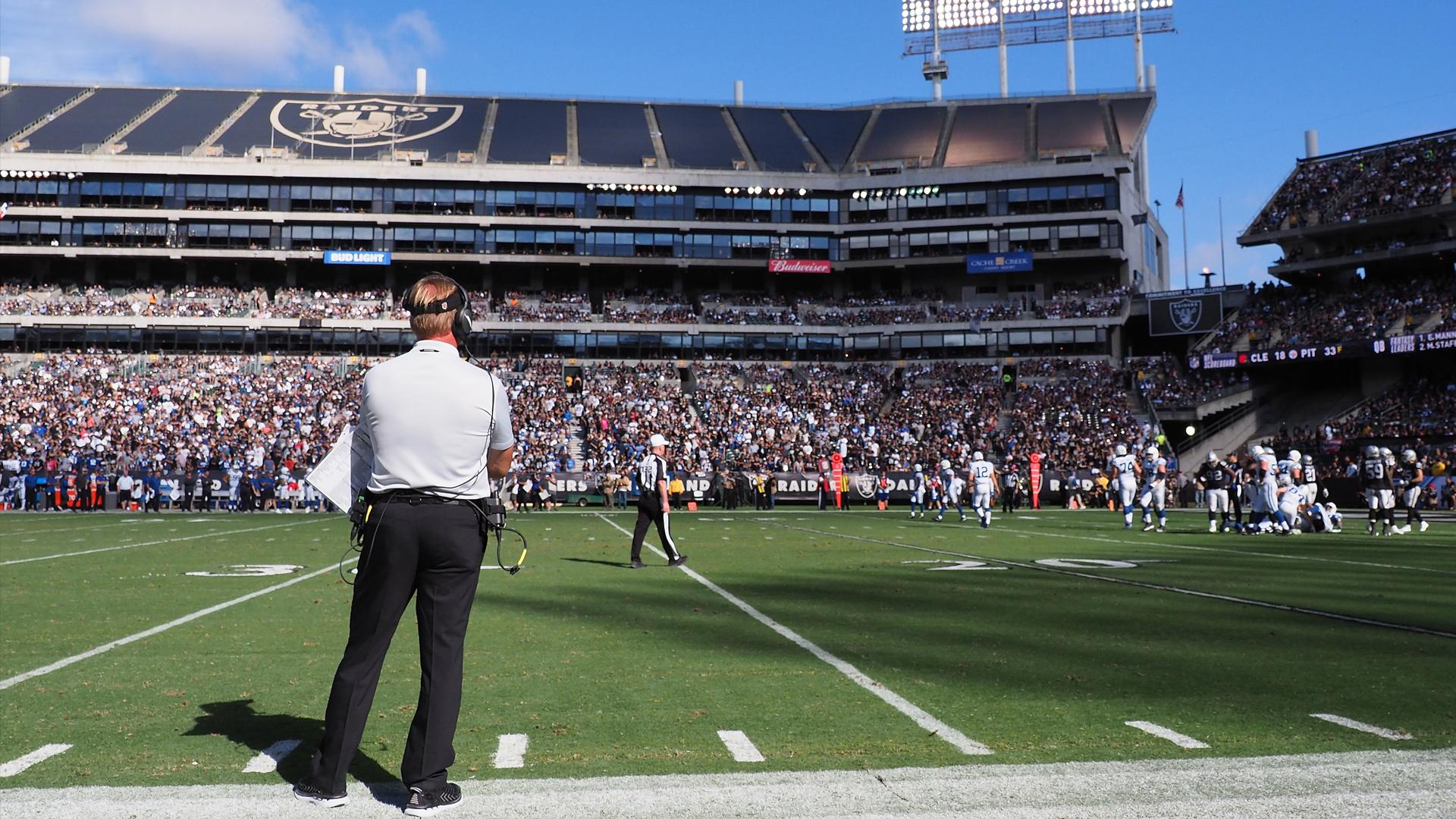 Emotional Jon Gruden talks about potential final Raiders game at Coliseum