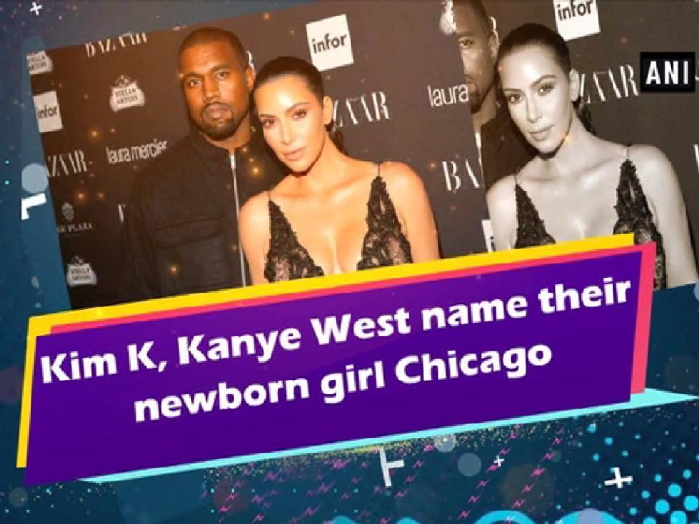 kim k kanye west name their newborn girl chicago video. Black Bedroom Furniture Sets. Home Design Ideas