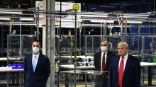 Trump trägt bei Fabrik-Besuch erneut zeitweise keine Schutzmaske