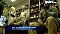 Draft hopefuls watch draft