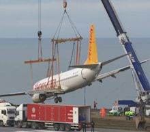 Passenger plane lifted away from cliff edge after Turkey runway incident