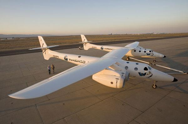 Virgin Galactic's WhiteKnightTwo spaceship carrier gets unveiled