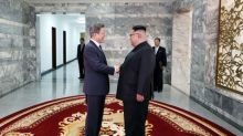 Leaders of two Koreas hold surprise meeting as Trump revives hopes of summit with North