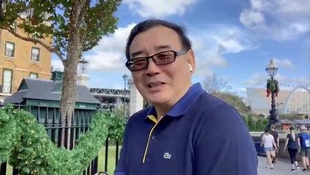 Still image from video of Australian writer Yang Hengjun wishes Happy New Year to his Twitter followers at an unidentified location