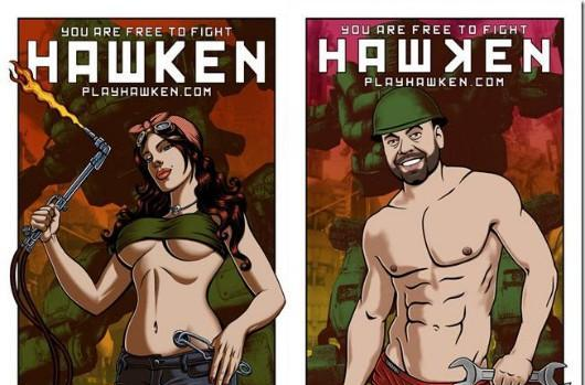 Hawken employees genderflip CEO's sexy lady poster, have a laugh