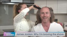 James Jordan's head shaved on live TV by wife Ola