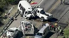 12 dead, 3 injured as church van crashes into truck in Texas