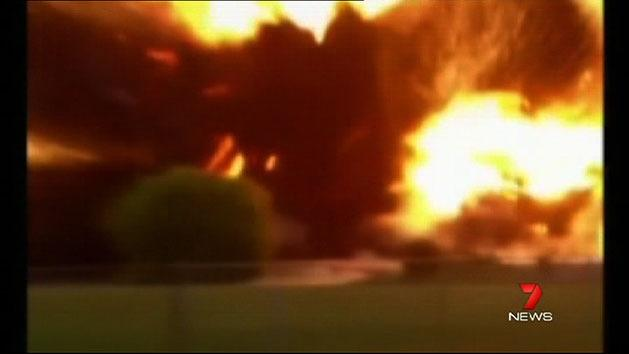 US stunned by huge explosions