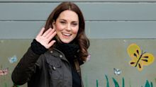Kate Middleton cosies up in furry bobble hat and quilted jacket as she shares video in selfie mode from field