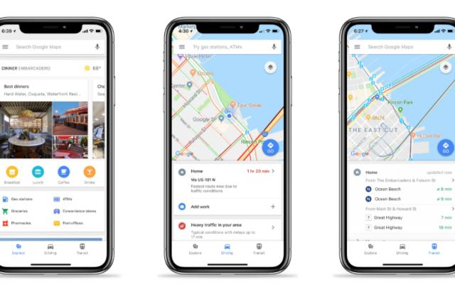 Google Maps for iOS adds easy access to traffic and transit info