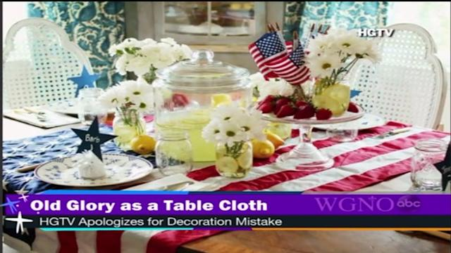 HGTV: use a flag as a table cloth
