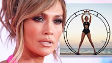 J Lo, 49, shows off age-defying body in cut-out swimsuit for magazine shoot