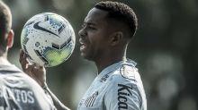 Robinho treina com bola pela primeira vez desde a volta ao Santos