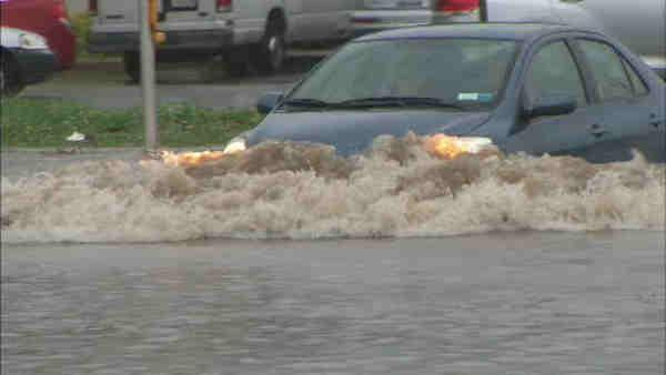 Long Island residents watch for flash floods after rain