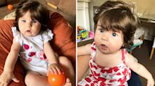 Five-month-old baby gets mistaken for doll thanks to shoulder-length hair
