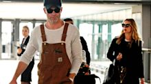 Chris Pine Rocks Broveralls at the Airport