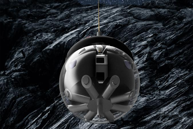 DAEDALUS hamster ball robot exploring Moon caves