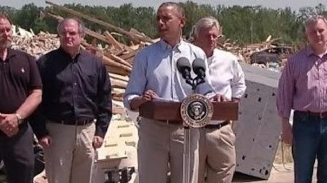 President Obama Surveys Tornado Damage in Central Arkansas