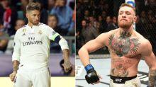 Sergio Ramos imita astro do UFC e esbanja forma física em capa de jornal espanhol