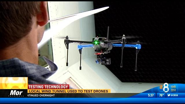 Local wind tunnel used to test drones