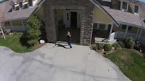 Man shoots down drone in impressive hoax video