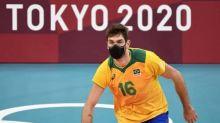 Volleyballer mit Maske im Spiel? Das steckt dahinter