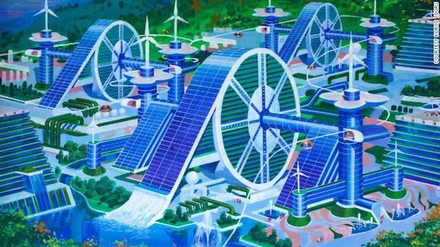 North Korea's vision of the future looks like classic sci-fi