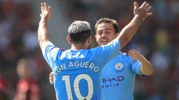 Aguero scores his 400th career goal as Man City beat Bournemouth