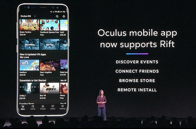 Oculus' mobile app now supports the Rift headset