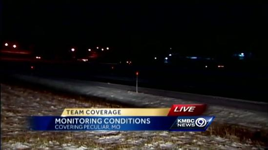Southeast parts of metro seeing slick roads