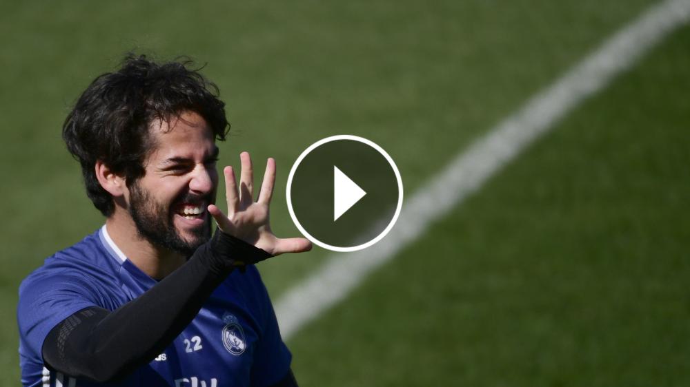 VÍDEO: Isco hace 'un Luis Suárez' en el entreno del Real Madrid