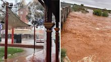 Aussie town lashed with a month's worth of rain in just 15 minutes