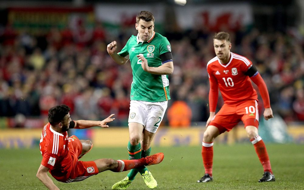 Neil Taylor's tackle on Seamus Coleman was so bad broadcasters refused to show replays - Rex Features