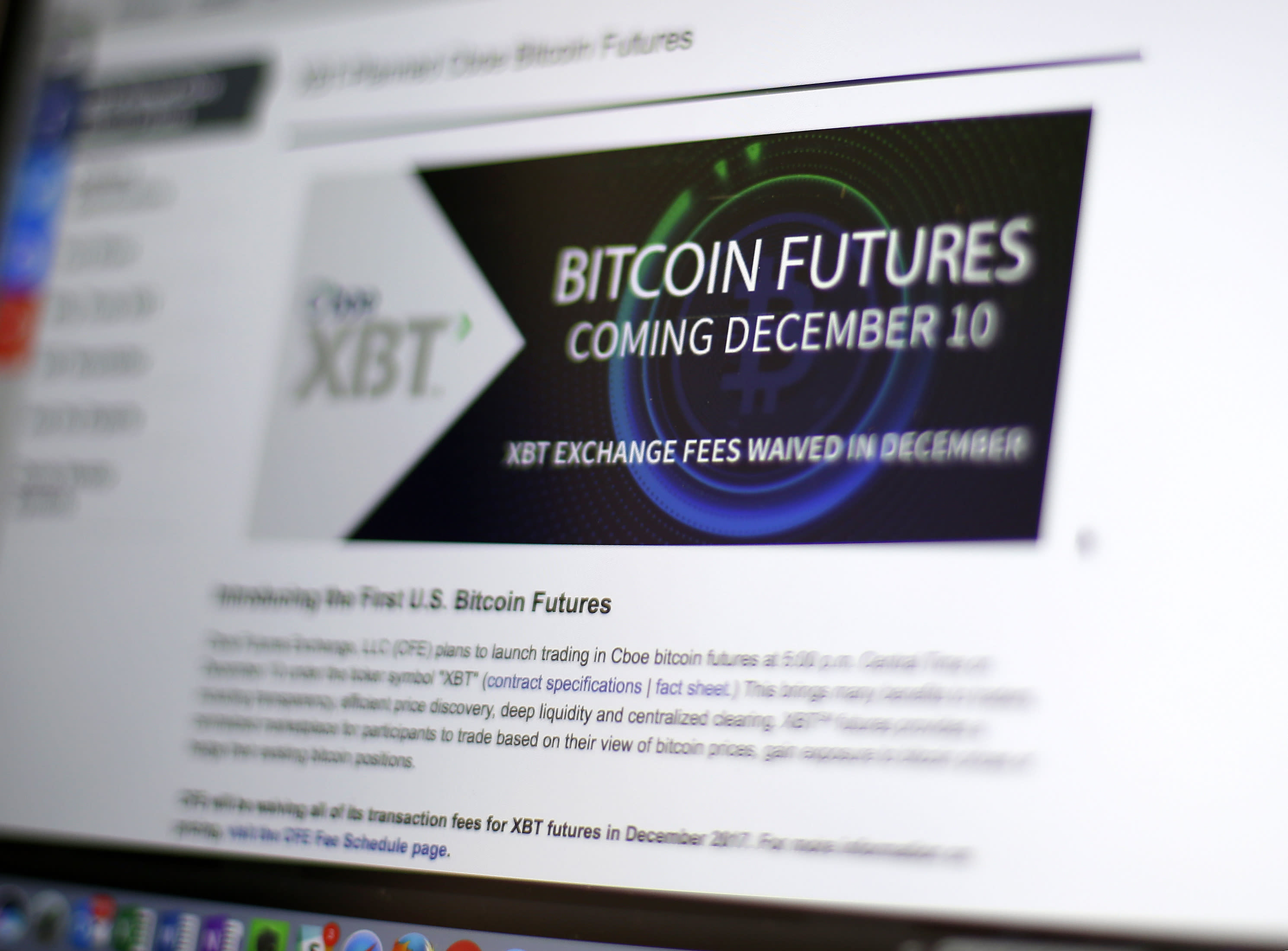 Bitcoin futures slide after trading debut on cme biocorpaavc Choice Image