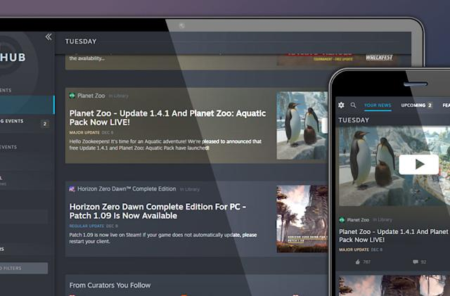 Valve officially launches Steam's personalized news hub