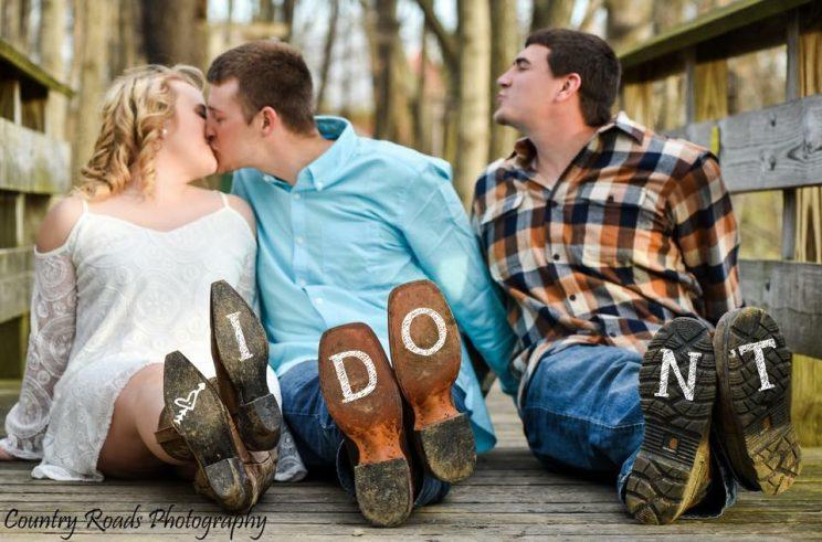 Newlyweds and Their 'Third Wheel' Go Viral With Hilarious Wedding Photos - Yahoo Food