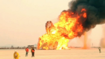 Art Installation 'Embrace' Set Aflame at Burning Man