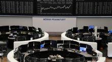 European shares end higher as defensives find favour