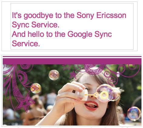 Sony Ericsson to shut down Sync service, recommends Google Sync instead