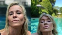 Martha Stewart critiques Chelsea Handler's recreation of her viral pool selfie: 'My facial expression is a bit more relaxed'