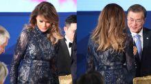 Melania Trump macht transparentes Kleid für Präsidentschaftsbesuch im Ausland salonfähig