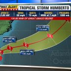 Tropical Storm Humberto to turn away from the United States this week