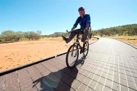 Recycled ink cartridges used to build bike path in Australian National Park