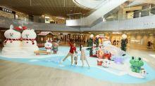 東薈城名店倉「LINE FRIENDS冬日野外遊蹤」3.5米高BROWN 和CONY造型雪人 與大家暢遊大嶼山著名景點