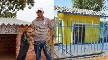 Homem que colocou ar-condicionado na casa de cadela de estimação usa ventilador para driblar o calor
