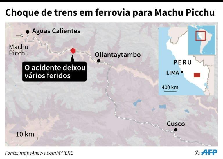 90f9aad69ea61 Choque de trens em ferrovia para Machu Picchu deixa feridos